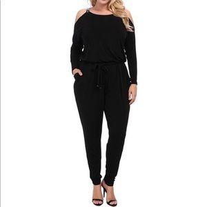 Michael Kors Black Pants Romper Jumpsuit Sz XL